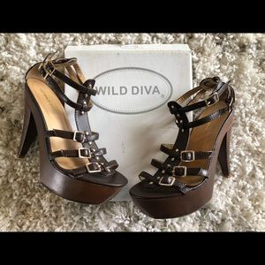 Wild Diva gladiator stiletto pumps